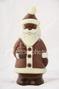 Chocolate santas are a big draw...